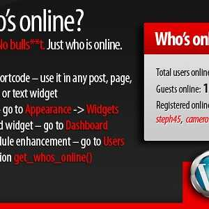 JUAL 5sec Who's Online WordPress Plugin