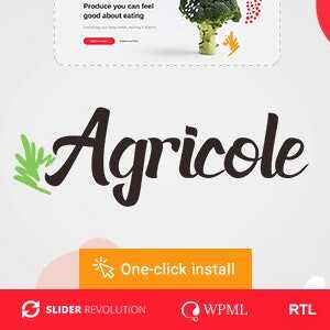 JUAL Agricole - Organic Food & Agriculture WordPress Theme