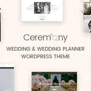 JUAL Ceremony - Wedding Planner WordPress Theme