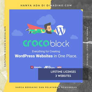 JUAL Crocoblock Pro Plugin + Lifetime 3 Websites ORIGINAL LICENSE