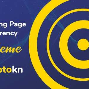 JUAL Cryptokn - ICO Landing Page & Cryptocurrency WordPress Theme