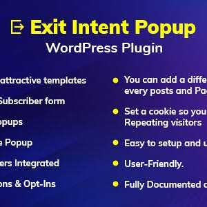 JUAL Exit Intent Popup WordPress Plugin