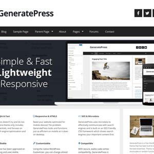 JUAL GeneratePress Premium + Original License - The Entire Collection of GeneratePress Premium Modules