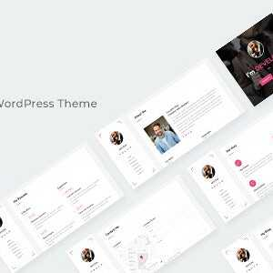 JUAL Giza - Creative Resume WordPress Theme