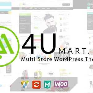 JUAL M4U - Multi Store Responsive WordPress Theme