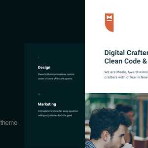 JUAL Meelo - Corporate One Page WordPress Theme