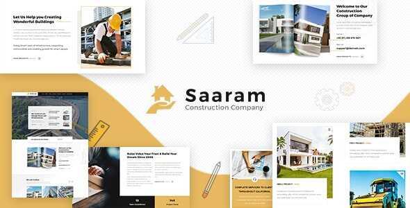 JUAL Saaram - Architect WordPress Theme