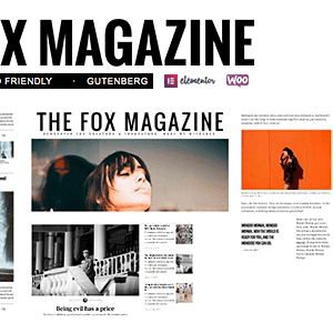 JUAL The Fox - Minimal Blog/Magazine Theme For Creators