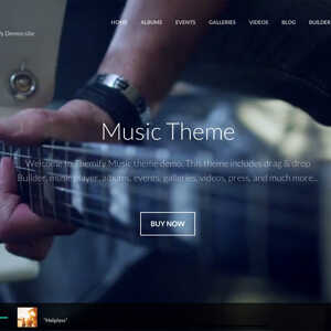 JUAL Themify Music WordPress Theme