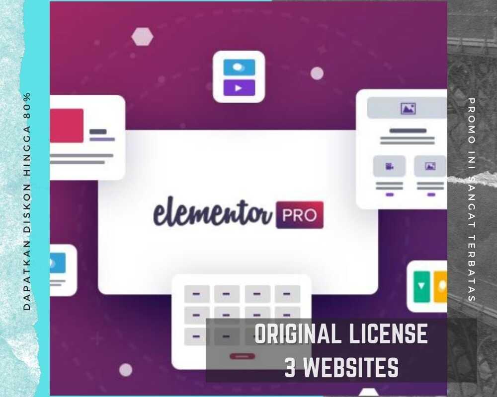 Elementor Pro Original Lisensi Untuk 3 Websites
