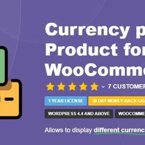 Currency per Product for WooCommerce By TycheSoftwares