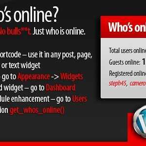 JUAL 5sec Who's Online WordPress Plugin