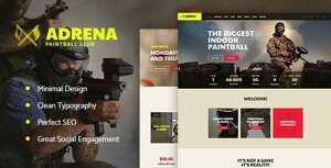 Adrena – Airsoft Club & Paintball WordPress Theme
