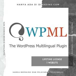 WPML Multilingual CMS + 1 LISENSI ORIGINAL LIFETIME + 14 ADD-ONS